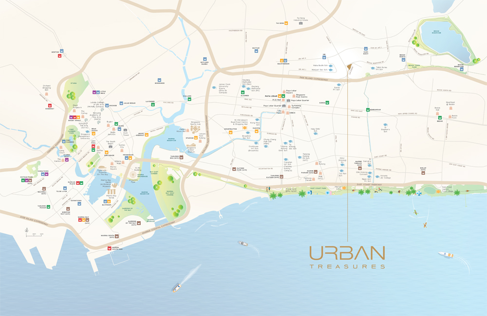 Urban Treasures Location Map